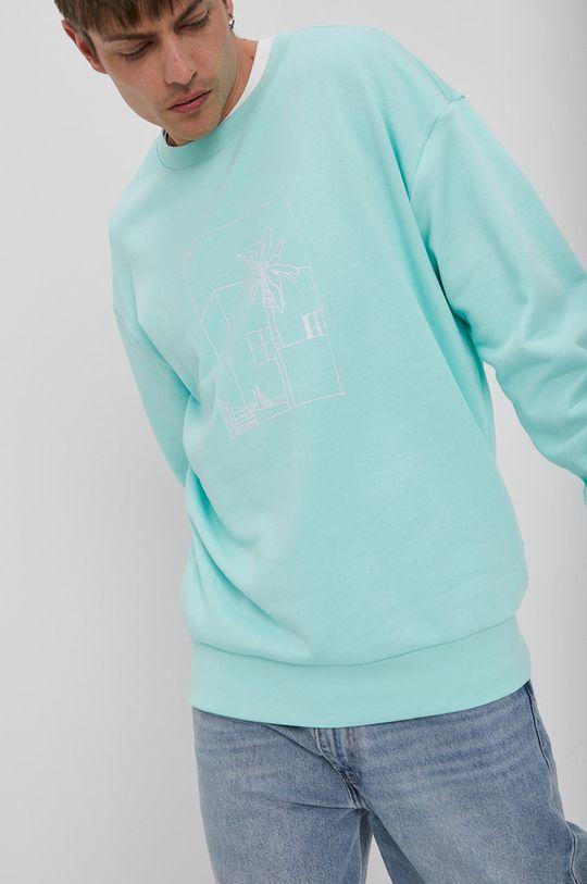 blady turkusowy adidas Originals - Bluza bawełniana