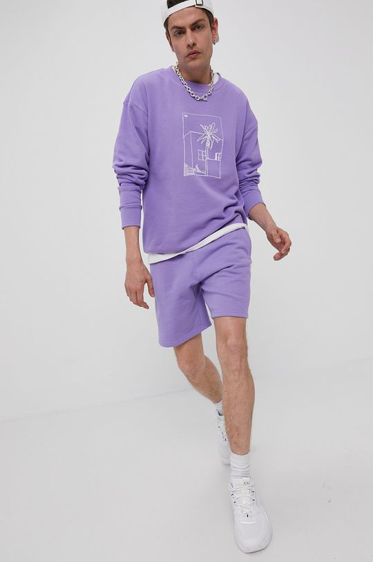 adidas Originals - Bluza bawełniana winogronowy