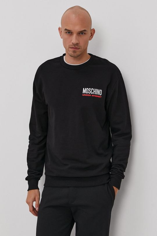 čierna Moschino Underwear - Mikina Pánsky