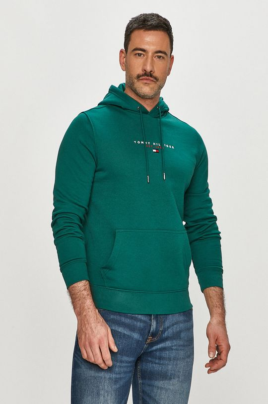 zelená Tommy Hilfiger - Bavlněná mikina Pánský