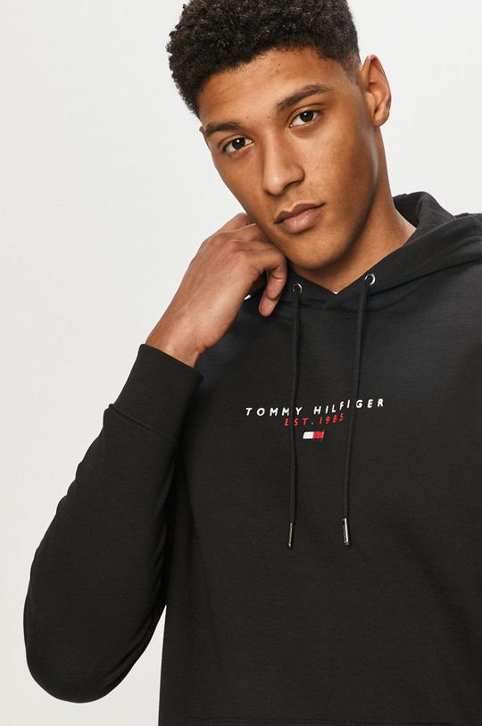 čierna Tommy Hilfiger - Bavlnená mikina Pánsky