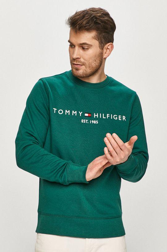 zelená Tommy Hilfiger - Mikina Pánský