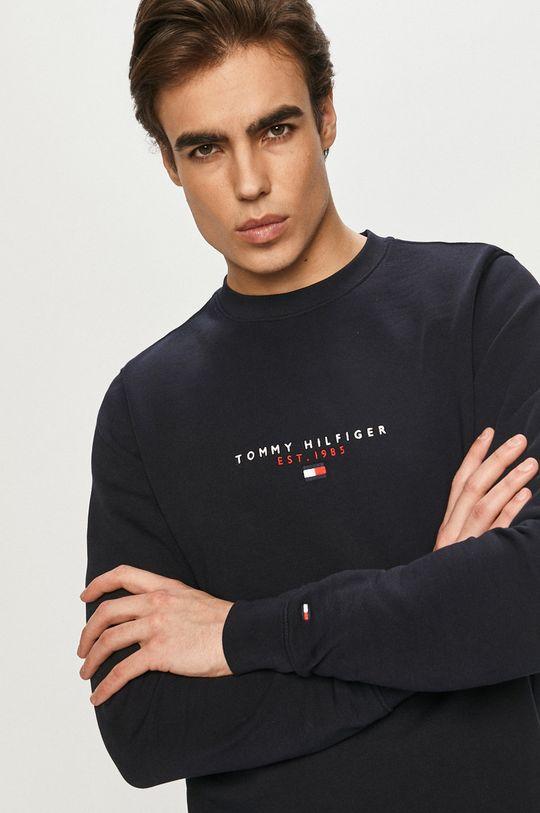 granatowy Tommy Hilfiger - Bluza bawełniana