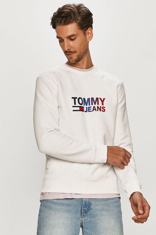 bílá Tommy Jeans - Mikina Pánský