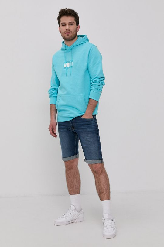 turcoaz deschis Tommy Jeans - Hanorac de bumbac De bărbați