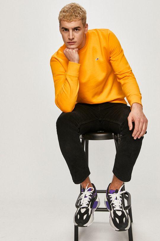 portocaliu Tommy Jeans - Bluza De bărbați