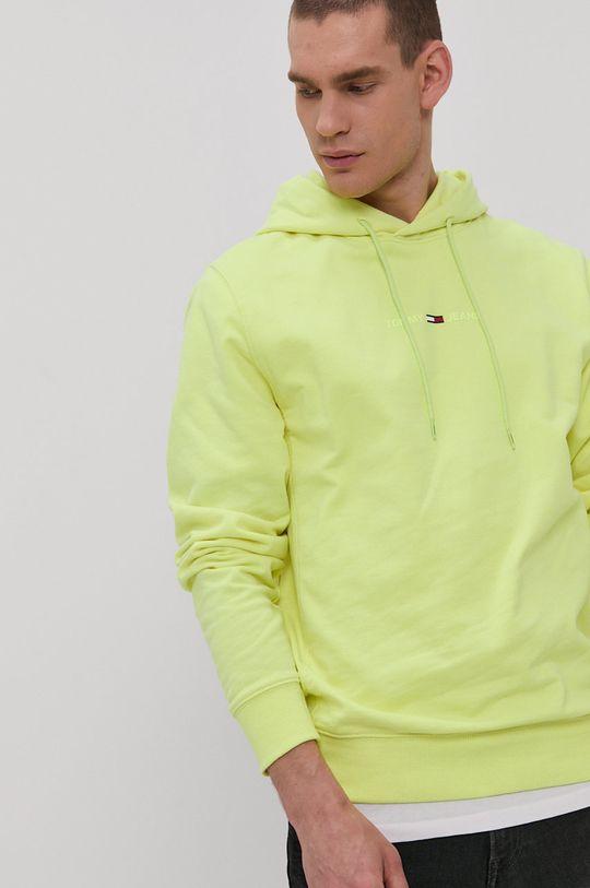 żółto - zielony Tommy Jeans - Bluza Męski