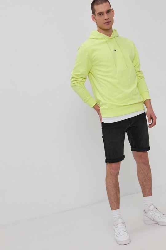 Tommy Jeans - Bluza żółto - zielony