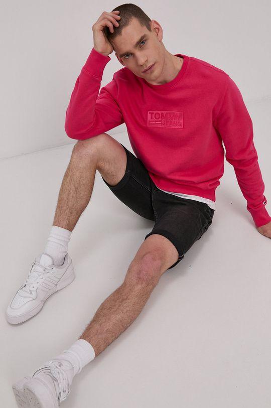 różowy Tommy Jeans - Bluza bawełniana Męski