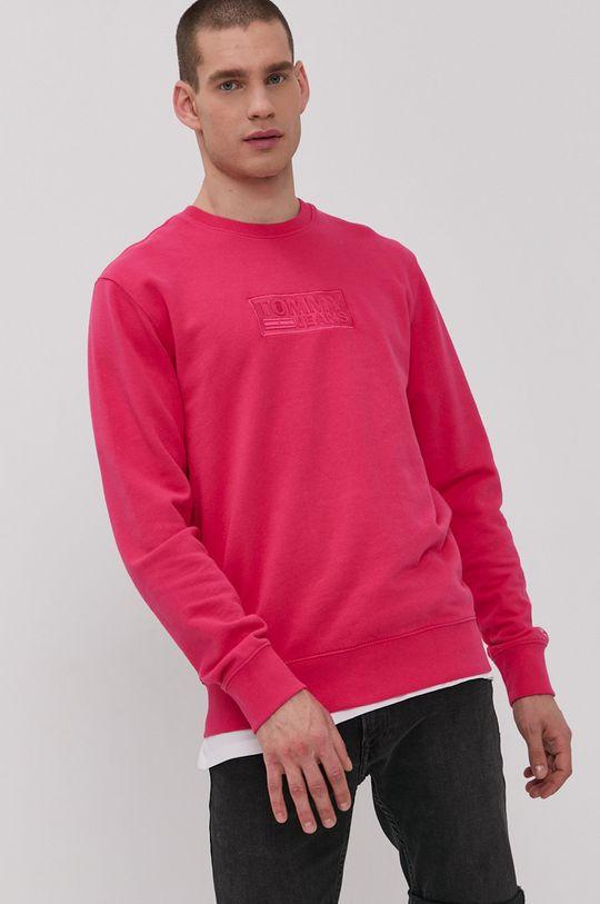 Tommy Jeans - Bluza bawełniana różowy
