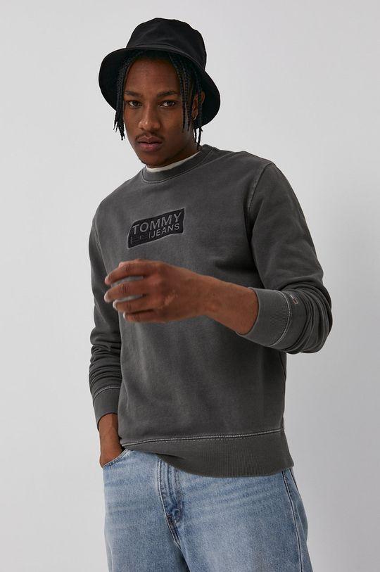 negru Tommy Jeans - Hanorac de bumbac De bărbați
