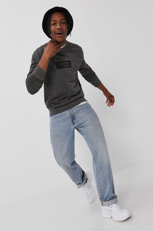 Tommy Jeans - Hanorac de bumbac negru