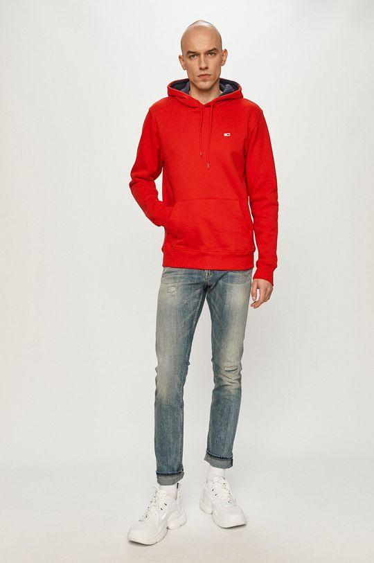 Tommy Jeans - Mikina červená