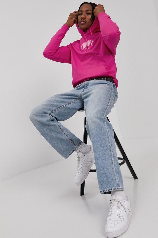 Tommy Jeans - Mikina bledofialový