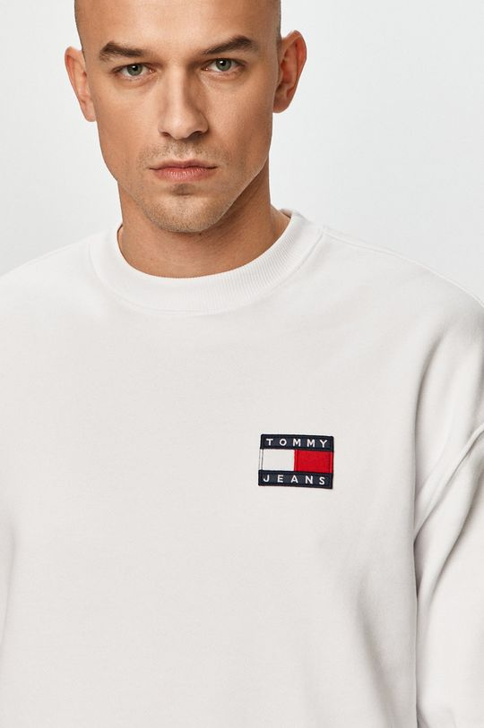 biały Tommy Jeans - Bluza bawełniana