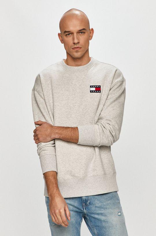 jasny szary Tommy Jeans - Bluza bawełniana Męski