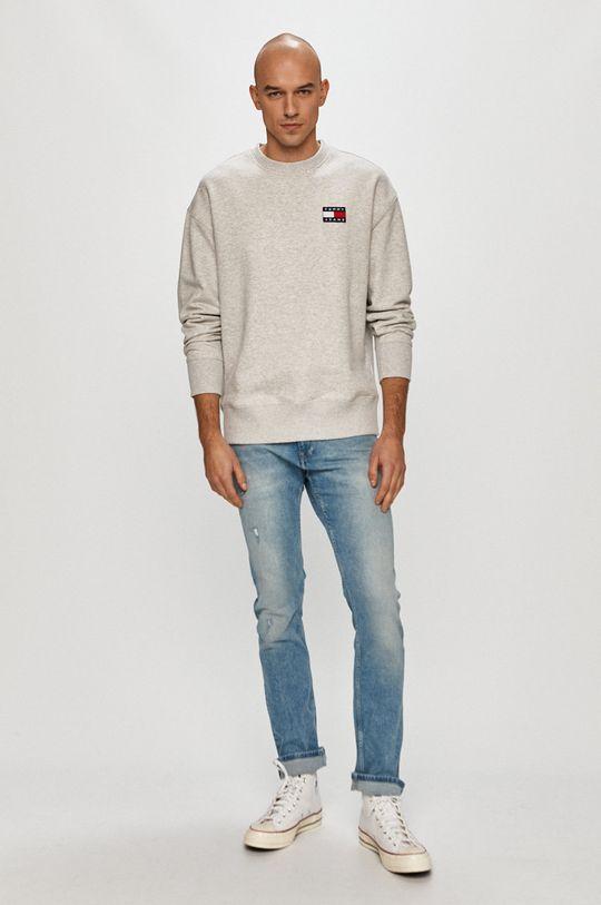 Tommy Jeans - Bluza bawełniana jasny szary