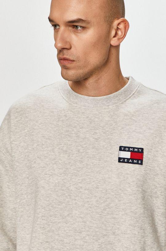 jasny szary Tommy Jeans - Bluza bawełniana