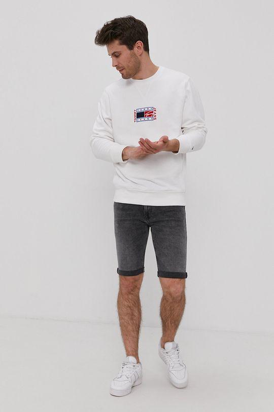 Tommy Jeans - Bluza bawełniana biały