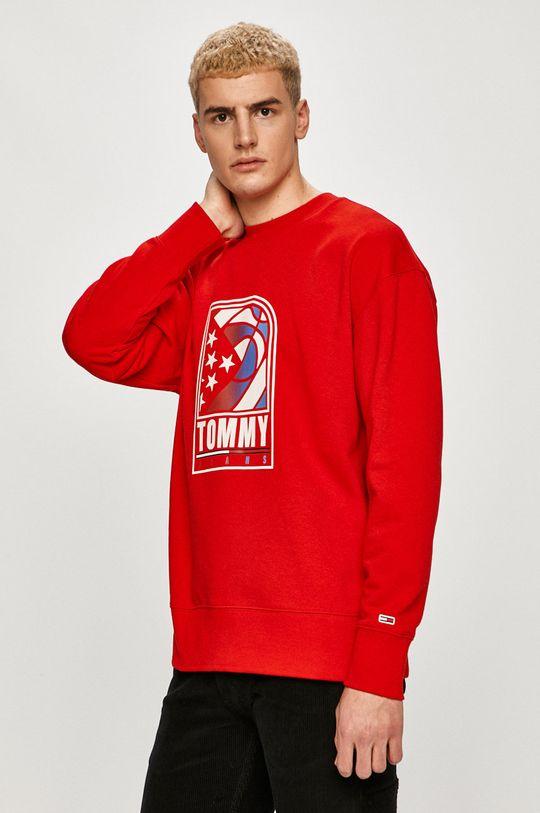 czerwony Tommy Jeans - Bluza Męski