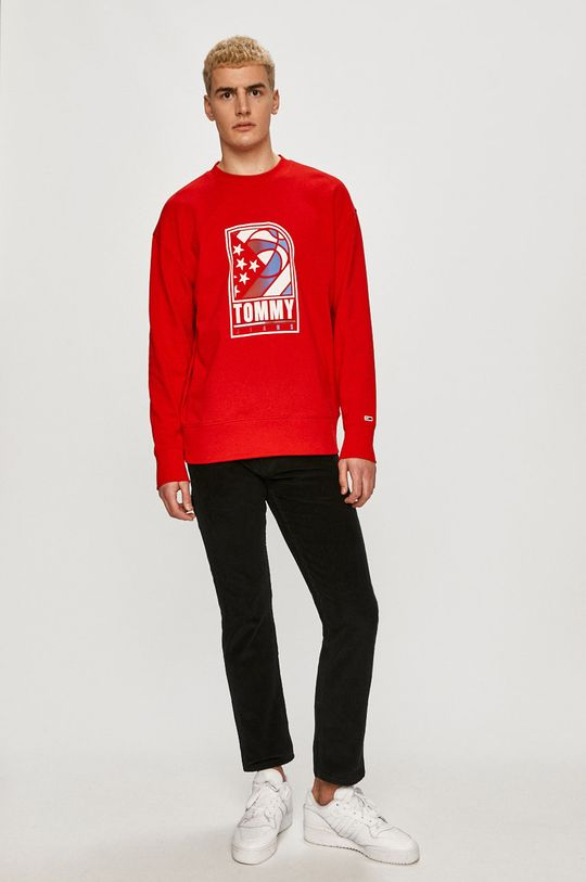 Tommy Jeans - Bluza czerwony