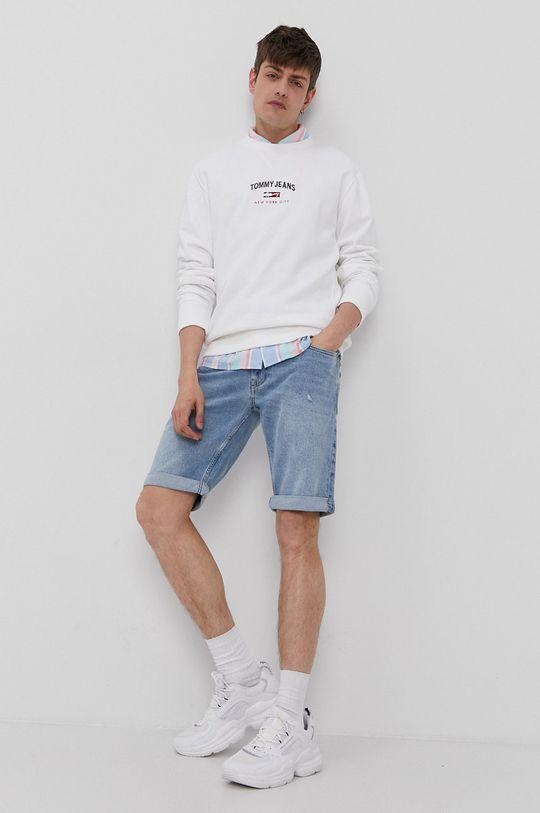 bílá Tommy Jeans - Bavlněná mikina Pánský