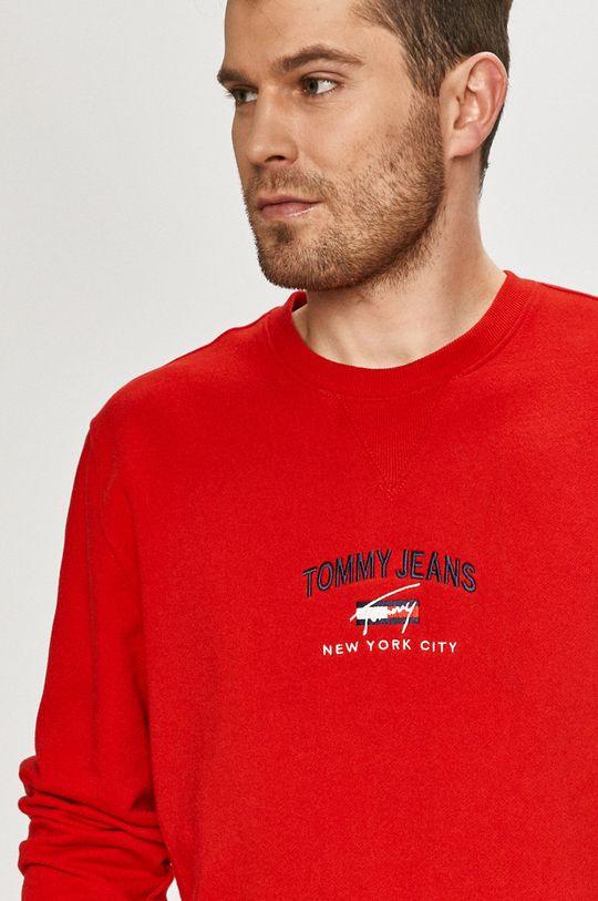 červená Tommy Jeans - Bavlněná mikina