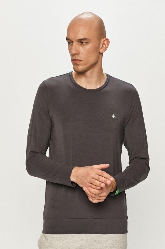 šedá Calvin Klein Underwear - Tričko s dlouhým rukávem Pánský