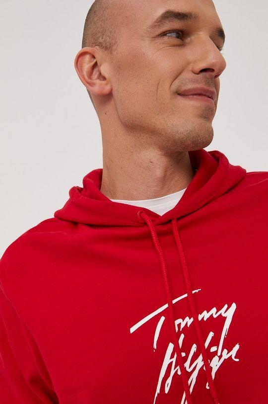 czerwony Tommy Hilfiger - Bluza Męski
