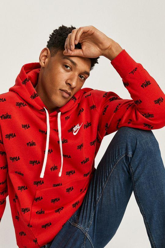 czerwony Nike Sportswear - Bluza Męski