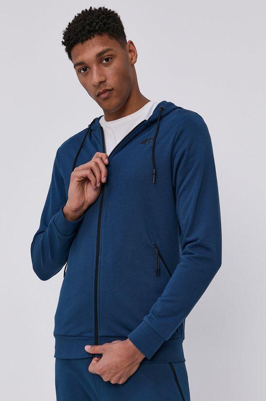 stalowy niebieski 4F - Bluza Męski