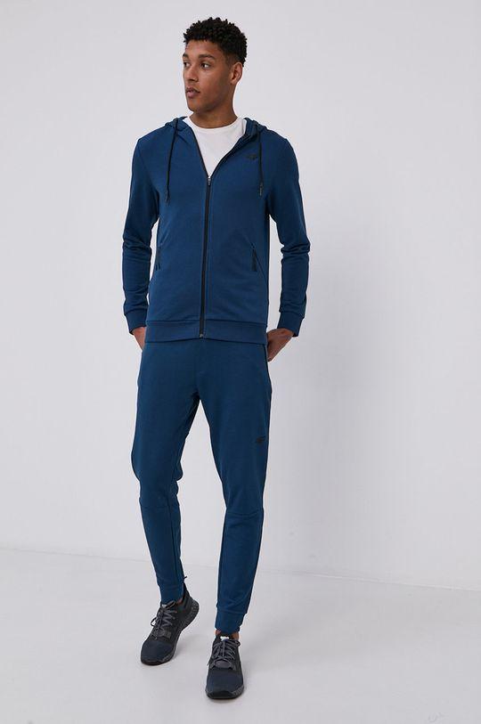 4F - Bluza stalowy niebieski