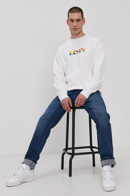 biały Levi's - Bluza PRIDE Męski