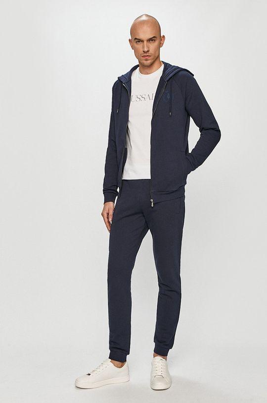 Trussardi Jeans - Bavlnená mikina tmavomodrá