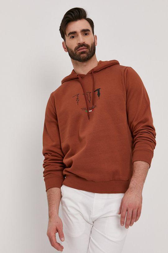 brązowy Trussardi - Bluza bawełniana Męski
