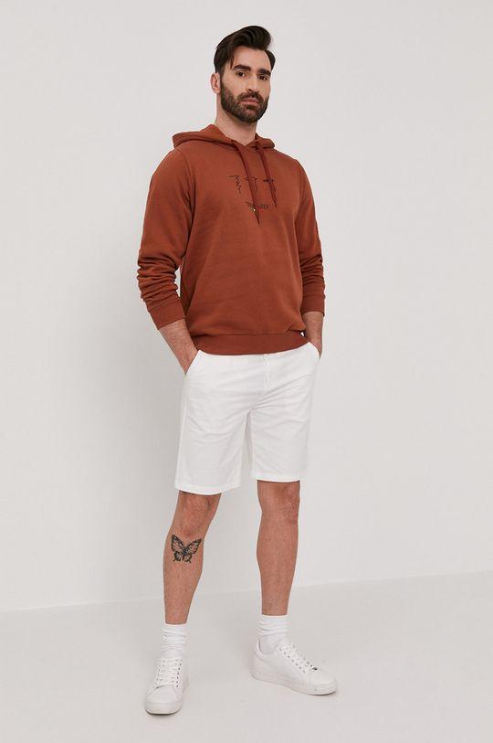 Trussardi - Bluza bawełniana brązowy