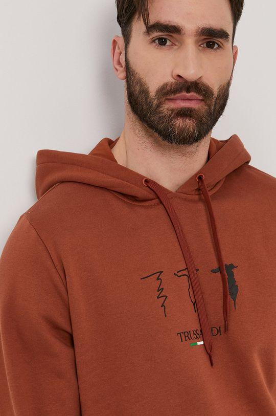 brązowy Trussardi - Bluza bawełniana