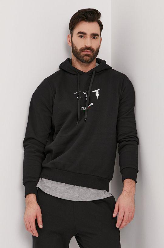 černá Trussardi - Bavlněná mikina Pánský