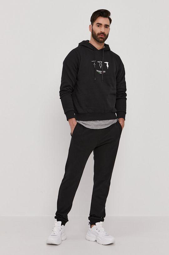Trussardi - Bavlněná mikina černá