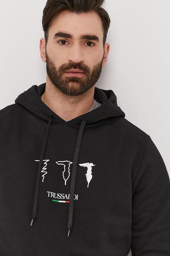 černá Trussardi - Bavlněná mikina