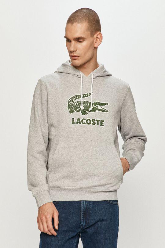 jasny szary Lacoste - Bluza Męski