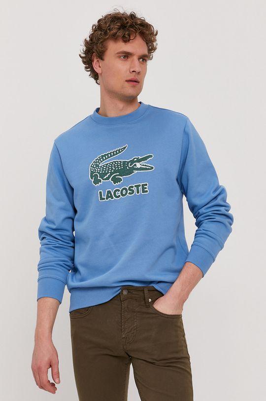 niebieski Lacoste - Bluza Męski