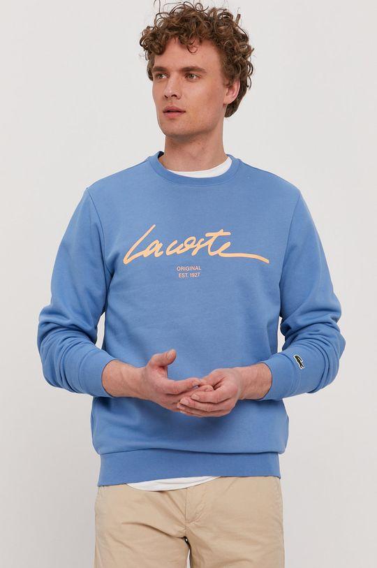 niebieski Lacoste - Bluza bawełniana Męski
