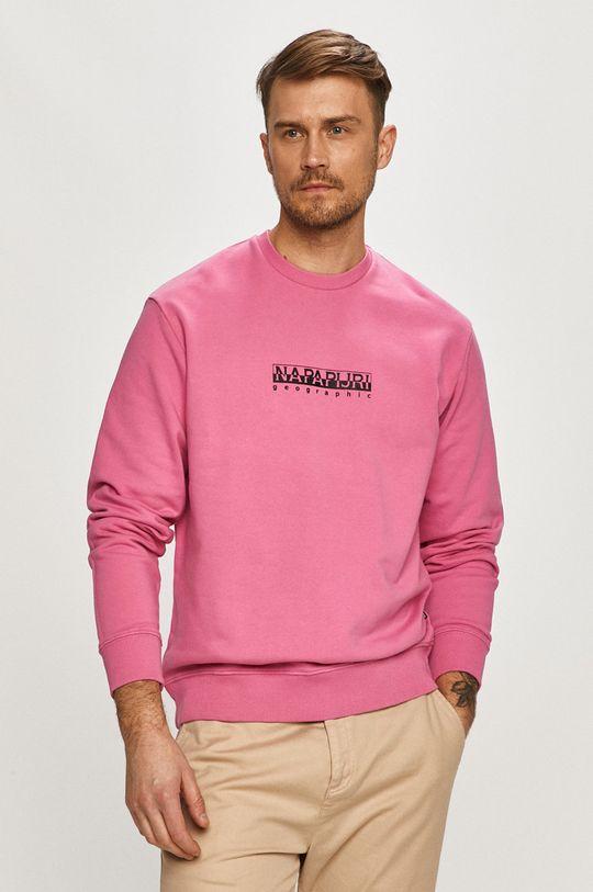 ostry różowy Napapijri - Bluza Męski