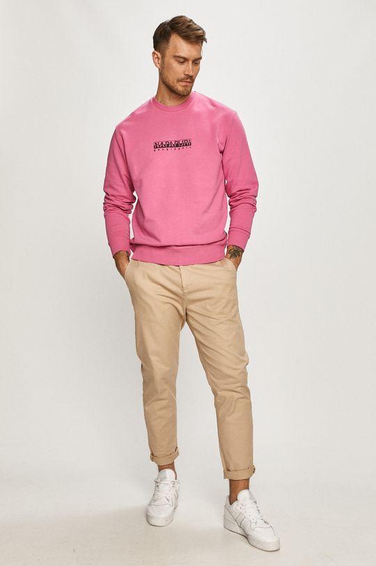 Napapijri - Bluza ostry różowy
