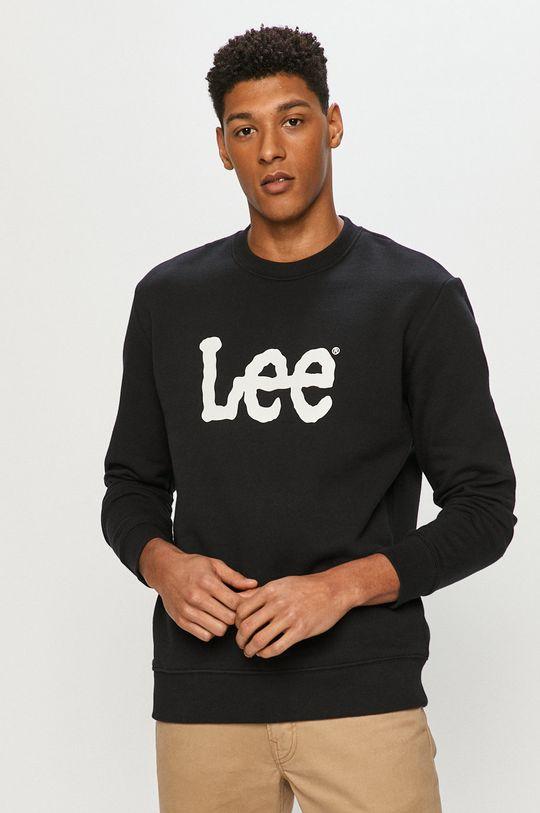 černá Lee - Bavlněná mikina Pánský