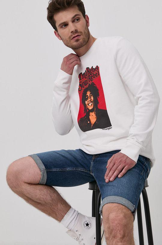 biały Wrangler - Bluza bawełniana x Bob Marley Męski