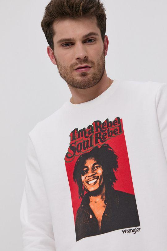 biały Wrangler - Bluza bawełniana x Bob Marley