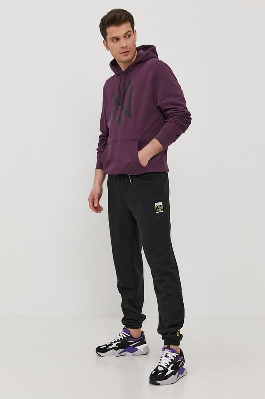 ciemny fioletowy New Era - Bluza