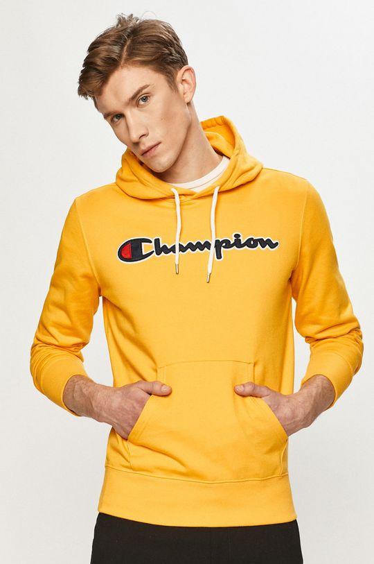 žltá Champion - Bavlnená mikina Pánsky
